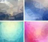Abstract polygonal backgrounds. — Stock Vector