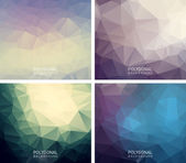 Abstract polygonal backgrounds — Stock Vector