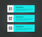 Set of paper banners — Stock Vector