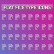 Set of file type extension icons — Vector de stock