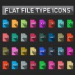 Set of file type extension icons — Stock Vector #48107513