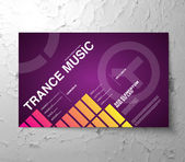 Flyer for music nightclub party — Stock Vector