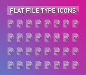 ファイル タイプの拡張子アイコンを設定します。 — ストックベクタ