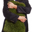 Stock Photo: Business Grass Hug