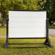 Neighborhood Blank Sign — Stock Photo