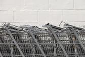 Carrinhos de compras horizontal — Fotografia Stock