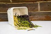 Frische grüne bohnen — Stockfoto