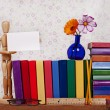 Book Shelf Background — Stock Photo