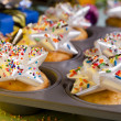 Stock Photo: Sprinkled Bow Cupcakes