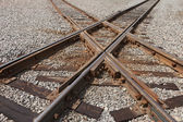 Railroad Tracks Crossing — Stock Photo