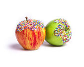 Sprinkled Apples — Stock Photo