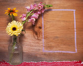 Flower and Chalk Outline Background — Foto de Stock