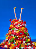 Head over Heals in Candy — Stock Photo