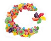 Şeker yıldız ve hilal — Stok fotoğraf