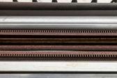 Horizontal Bands of Machinery — Stock Photo