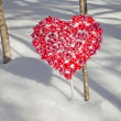Snowy Valentine's Day — Stock Photo