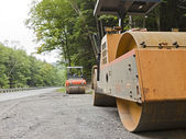 Construction Steam Roller — Stock Photo