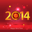 Happy New Year 2014 - Illustration — Stock Vector