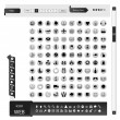 Internet Icons black and white icon set - Illustration — Stock Vector