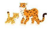 Cute Vector Set of Zoo Animals — Stock Vector