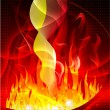 Background fire — Stock Vector