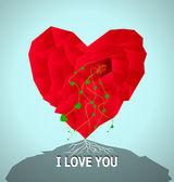 Valentines day card — Stockvektor