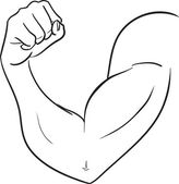 Biceps of strong man — Vector de stock