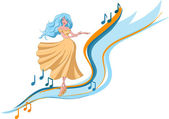 Dancing woman — Stock Vector