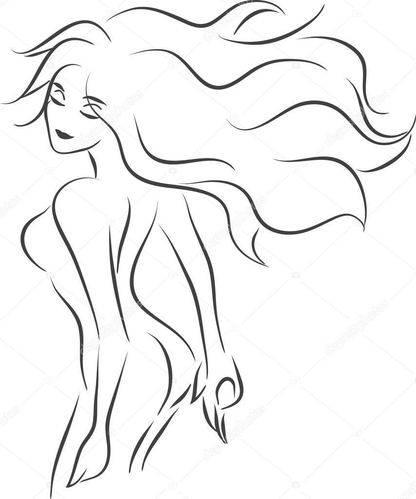 Эскизы голых женщин 17 фотография