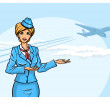 Stewardess — Stock Vector #40771487