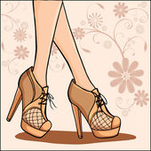 Ankle boots — Stock Vector