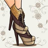 Kotníkové boty — Stock vektor