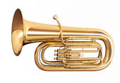 Tuba isolated on white background — Stock Photo