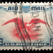 US Air Mail Stamp — Stock Photo