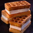 Stock Photo: Viennese waffles