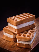 Viennese waffles — Stock Photo