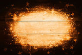 Wood Texture Background with Magic and Stars — Stock Photo