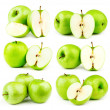 Big compilation of apples on a white background — Stock Photo