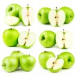 Stock Photo: Big compilation of apples on white background