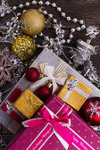 Gifts for the new year with accessories — Stock Photo
