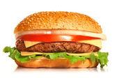 Burger on white background — Stock Photo