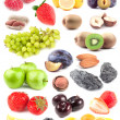 Stock Photo: Big compilation of fruit