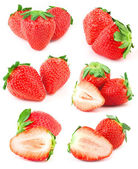 A few strawberries on a white background — Stock Photo