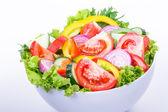 Fresh Vegetable salad. Useful vitamin food. — Stock Photo