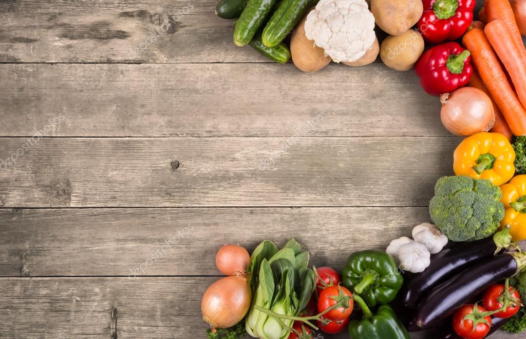 Vegetables On Wood Background Stock Photo 169 Primopiano