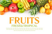 Fruits on white background — Stock Photo