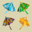 Polygonal umbrellas — Stock Vector