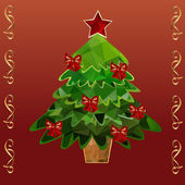 Polygonal Christmas tree — Vetorial Stock