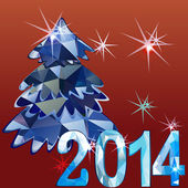 Christmas tree background.jpg — Vector de stock