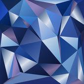 Modré pozadí mnohoúhelník 1 — Stock vektor
